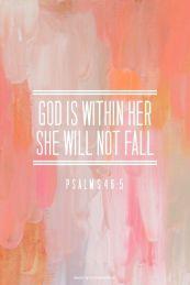 she will not fail
